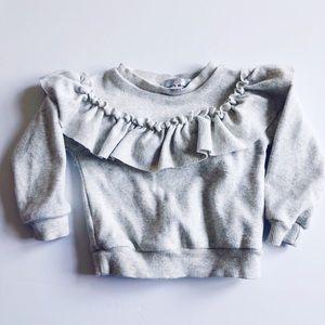 Babygirl frilly sweatshirt
